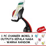 Beli Best Universal 360 Degree Mobile Phone Holder Free 1 Pc Charger Mobil 888 3 Outputs