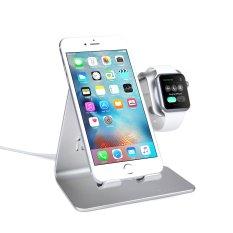 Terbaik Dan 2 In 1 Desktop Stand Tablet Telepon Dan Apple Watch Pengisian Dudukan Untuk Apple Iwatch Iphone Ipad Kelas Atas Silver International Spinido Diskon 30