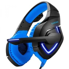 Beylor Gaming Headset dengan MIC untuk PC Ps4 XBOX One, 3.5mm Stereo USB PC Gaming Headset Headphone dengan Mikrofon untuk Laptop Komputer Mac PS4 (Biru)-Intl