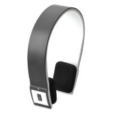 Beli Bh 02 Bluetooth Headset Stereo With Mikrofon Telepon Kepala Hitam Putih