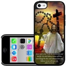 Bible Verse John Chapter 11 Verse 25-26 Hard Snap on Phone Case (iPhone 5c)