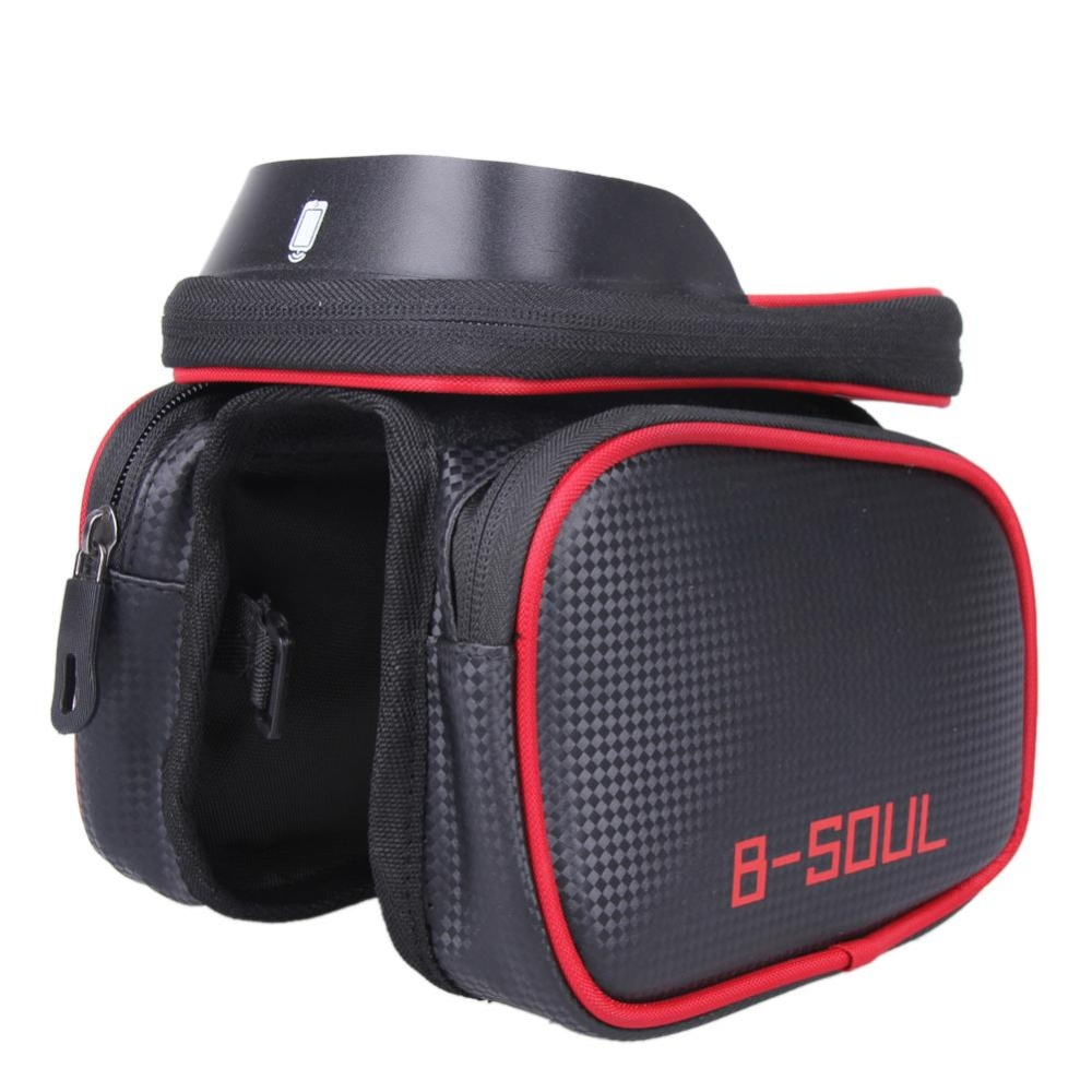 Bicycle Frame Bag Pannier Tube Pouch Touchscreen Bike Phone Holder Merah Intl Promo Beli 1 Gratis 1