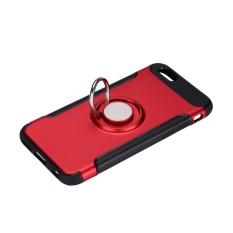 Keluarga Besar: Ponsel Terbaru Teknologi Kapal Gratis Carbon Fiber Wein Kasus Cover Kulit Shell untuk IPhone6 6 S dengan 360 ° Rotating Ring-Intl