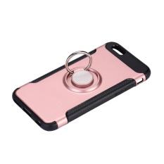 Keluarga Besar: Ponsel Terbaru Teknologi Kapal Gratis TPU Carbon Fiber Grain Kasus Magnetik untuk IPhone6Plus 360 ° Rotating Ring-Intl