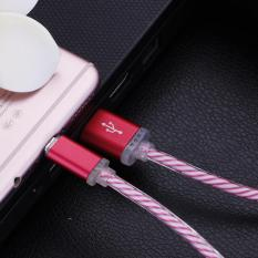 Bigskyie Glow LED Charger Luminescent Tanggal Pengisian Sync Cable untuk Samsung Galaxy S3 S4 S5 S6 S7-Intl