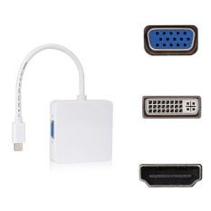 Billionton Mini Display Port To VGA+DVI+HDMI Output Adapter - Putih