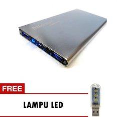 Harga Billionton Power Bank 10400Mah Super Slim Silver Lampu Led Termahal
