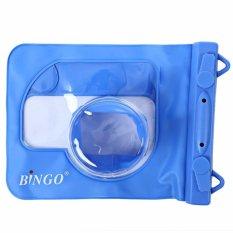 Bingo Waterproof Case For Mirrorless Camera - Biru - Fit Sony A5000/A5100/6000, Nikon J5, Canon EOS M10