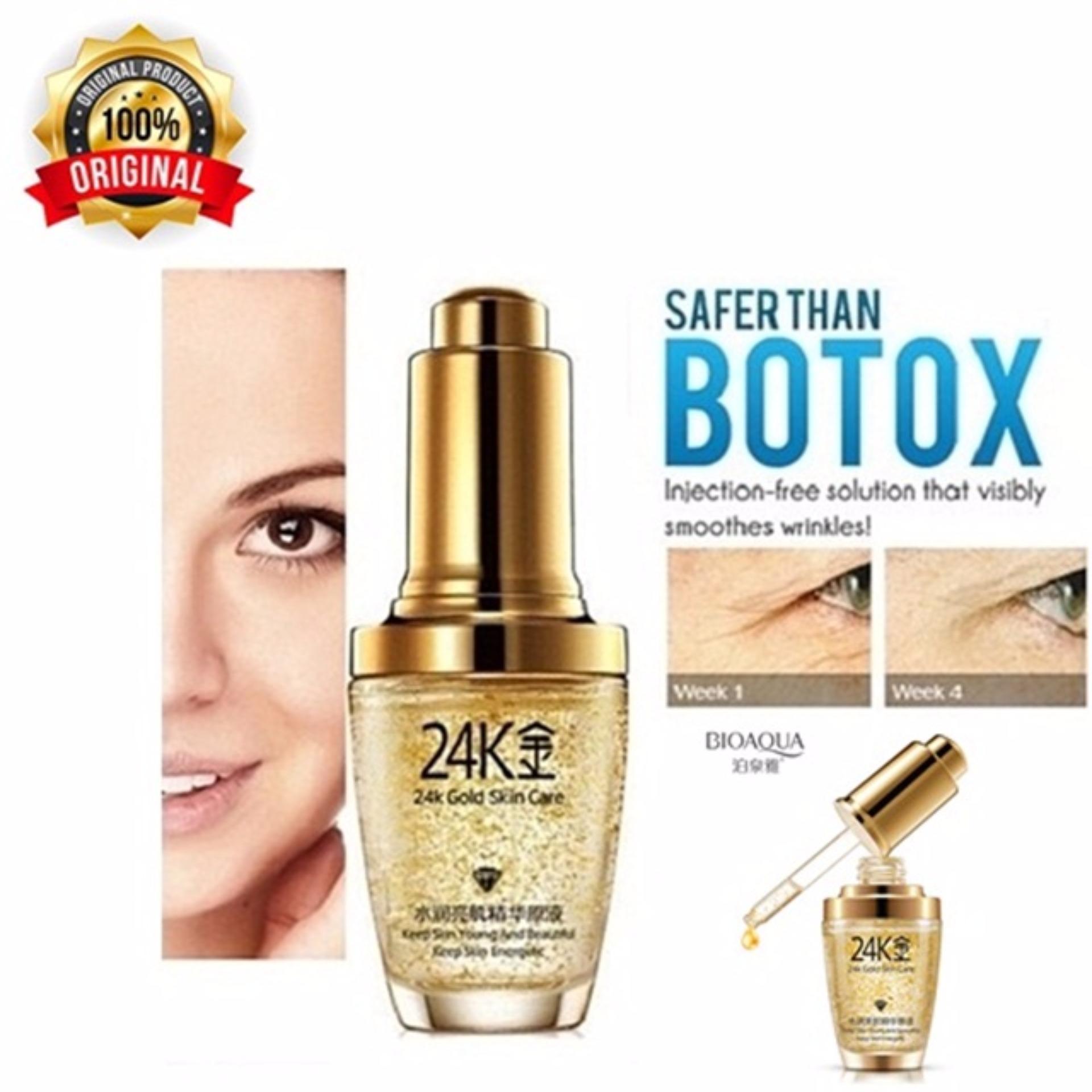 Bioaqua 24k Gold Skin Care Serum Wajah Emas Penghilang Kantung Mata dan Kerutan Wajah
