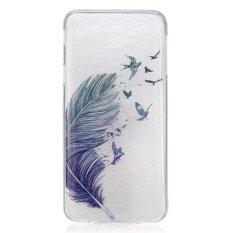 Burung Bulu TPU Lembut Kantong Gas Belakang Case Cover untuk Samsung GALAXY J7 Prime Case-Intl