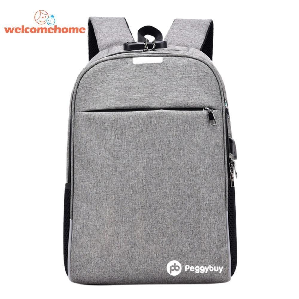 Beli Bisnis Anti Maling Ransel Usb Pengisian Laptop Canvas Sch**l Shoulder Bag Intl Vakind Murah