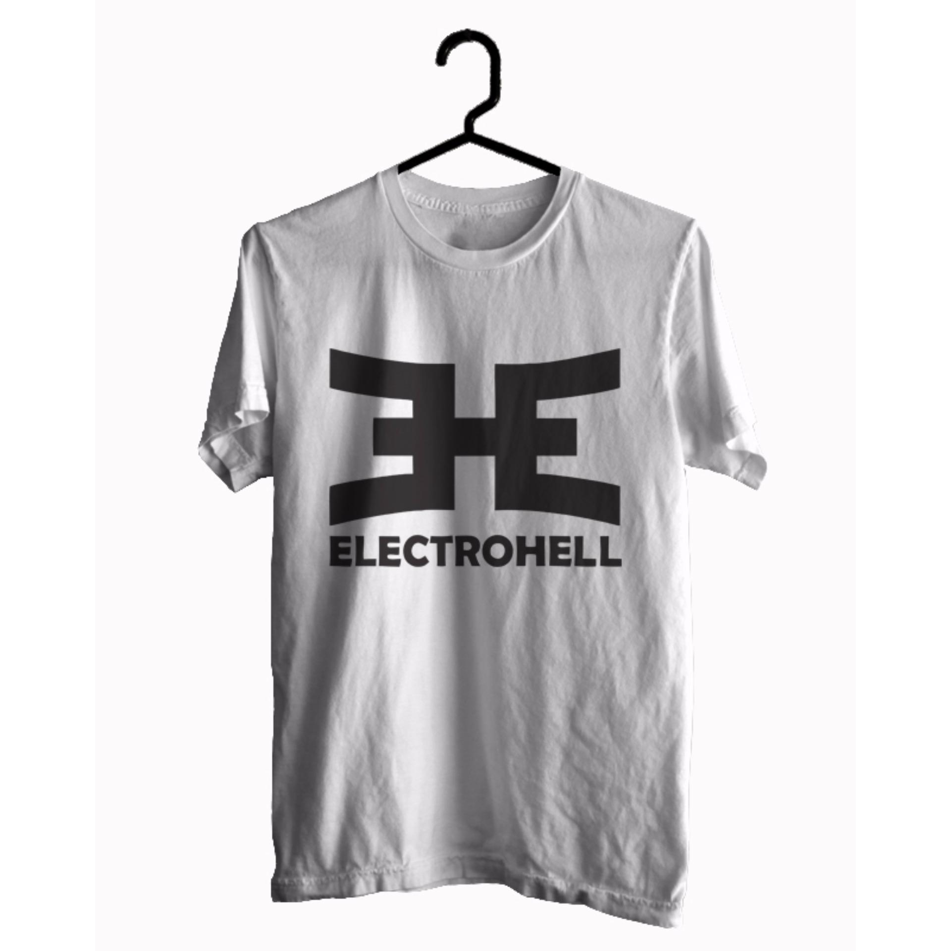 BKSPC - Kaos / T-shirt Electrohell - Pria dan Wanita - Putih