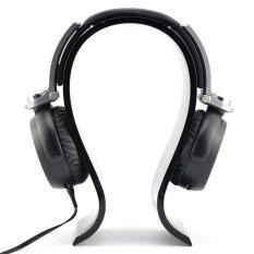 Hitam Pajangan Headphone Akrilik Dudukan Rak Earphone Gantungan Headset-Intl