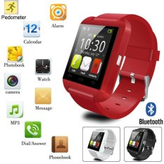 Hitam Bluetooth Smartwatch Kamera untuk Android & Ios iPhone Samsung LG