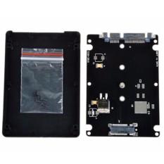 Hitam B + M Soket Kunci 2 M.2 NGFF SSD untuk 2.5 Inch SATA