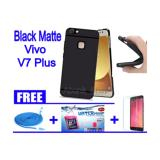 Jual Beli Black Matte Case For Vivo V7 Plus Free Kabel Data Usb 3M Water Proof Tempered Glass A S Indonesia