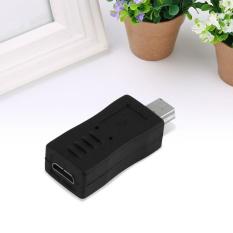 Hitam Micro USB Male Ke Mini USB Pin Female Adaptor Data Cable Converter-Intl