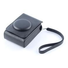 Hitam PU Leather Case Digital Camera Case Cover Bag untuk FujifilmXQ1XQ2 XF-1 XF1 Kamera Digital-Internasional