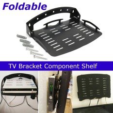 Hitam Set-top Box Wall Mounted TV Box DVR XBOX DVD Holder Bracket Router Rak-Internasional
