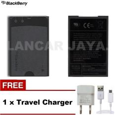 Blackberry Baterai battery batre type MS-1 for BB Bold  9000 - 9700 - 9780 - Black + Gratis Travel Charger