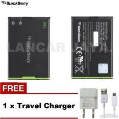 Blackberry Baterai Battery JM-1 for 9900/9930/9790/9860/9850/9380 - Hitam + Gratis Travel Charger
