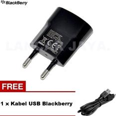 Blackberry Charger Original for BlackBerry Q10 Hitam + Gratis Kabel USB BB