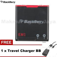 Blackberry Curve Baterai EM-1 for 9360, 9370 ,9350 + Free Charger Warna Random