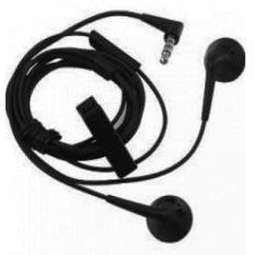 BlackBerry Handsfree For BlackBerry 9220 Headset / Earphone For All Phone Model Stereo Bass Portable - Black / Hitam