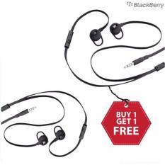 Blackberry Handsfree Headset Q5,Q10,Z10,Z30 Stereo Original Seri BB10 Buy 1 Get 1 Free - Hitam