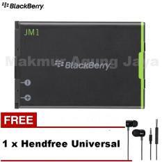 Blackberry Original  Battery/batterai Bold JM-1 for 9900/9930/9790/9860 - Hitam + Free Hendset/Hendsfree Universal