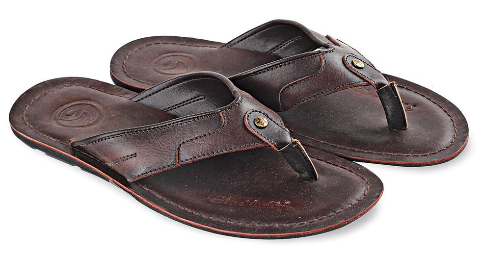 Blackkelly LSM 045 Sandal Casual  Pria - Kulit Super - Tpr - Simple Dan Elegan(Coklat)