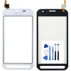 Hitam/Putih Ponsel Kaca Penggantian untuk Samsung Galaksi Xcover 3 G388 G388F Sentuh Layar Digitizer (Bebas + 3 M Tape + Membuka Alat Perbaikan + Lem)