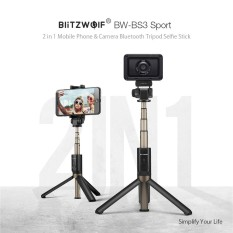 BlitzWolf BW-BS3 Sport Serbaguna 3 In 1 Bluetooth Tripod Selfie Sticks untuk Sport Camera Smart Phone BlitzWolf BW-BS3 Sport Serbaguna 3 In 1 Bluetooth Tripod Selfie Sticks untuk Sport Camera Smart Phone-Intl