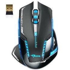 Harga Blue Led Wireless Optical Gaming Mouse Hitam Oem Online