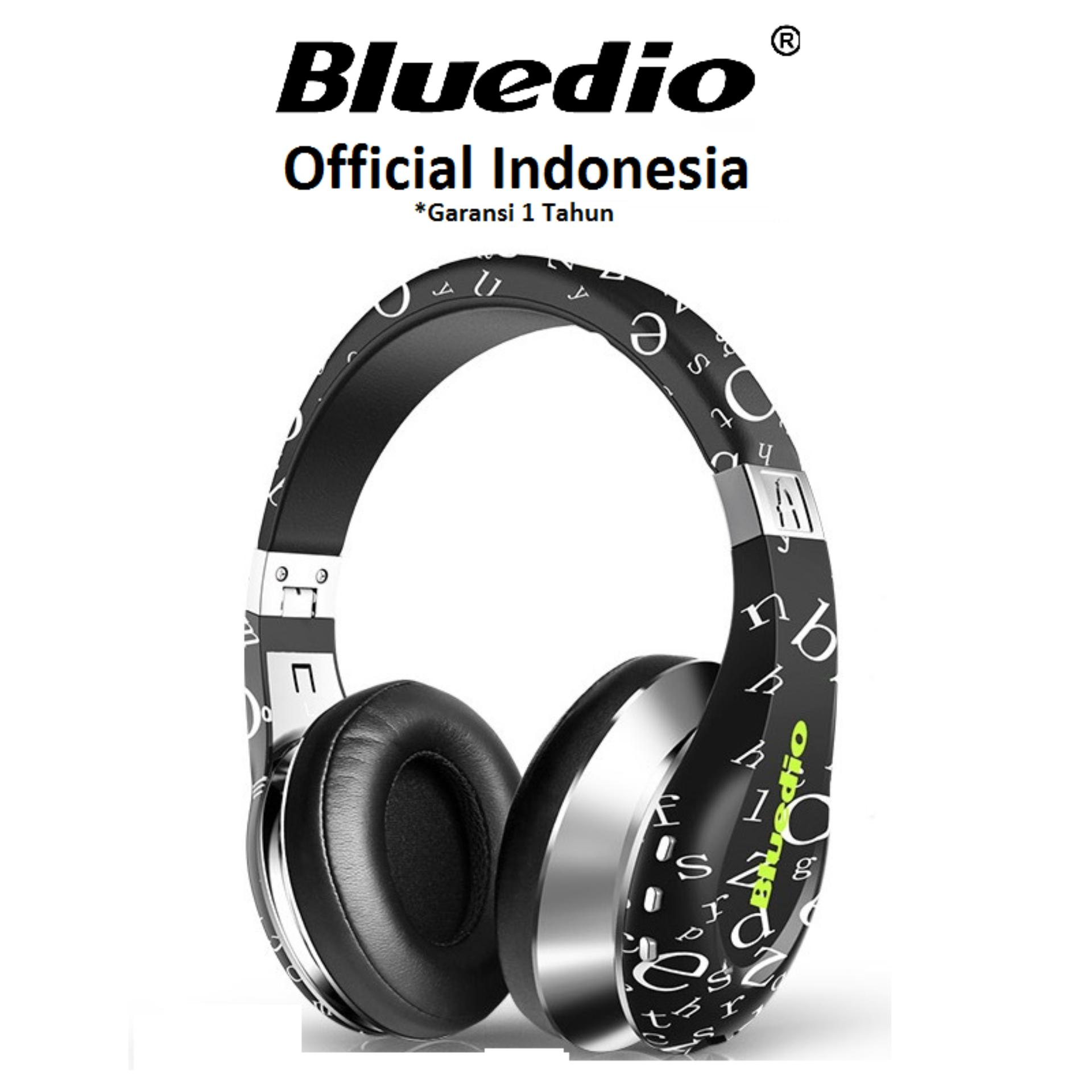 Jual Bluedio Air A Stylish Wireless Bluetooth Headphones With Mic Hitam Lengkap