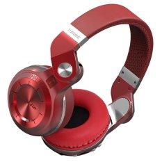 Model Bluedio T2 Nirkabel Bluetooth 4 1 Stereo Hurricane Seri Telinga Headset With Micro Sd Slot Fm Untuk Semua Smart Phone Merah Terbaru