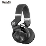 Toko Bluetooth Headphone Bluedio T2S With Mikrofon Hitam Tiongkok