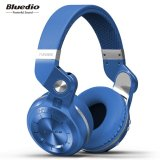 Beli Bluedio T2S Bluetooth Headphone With Mic Biru Online Terpercaya