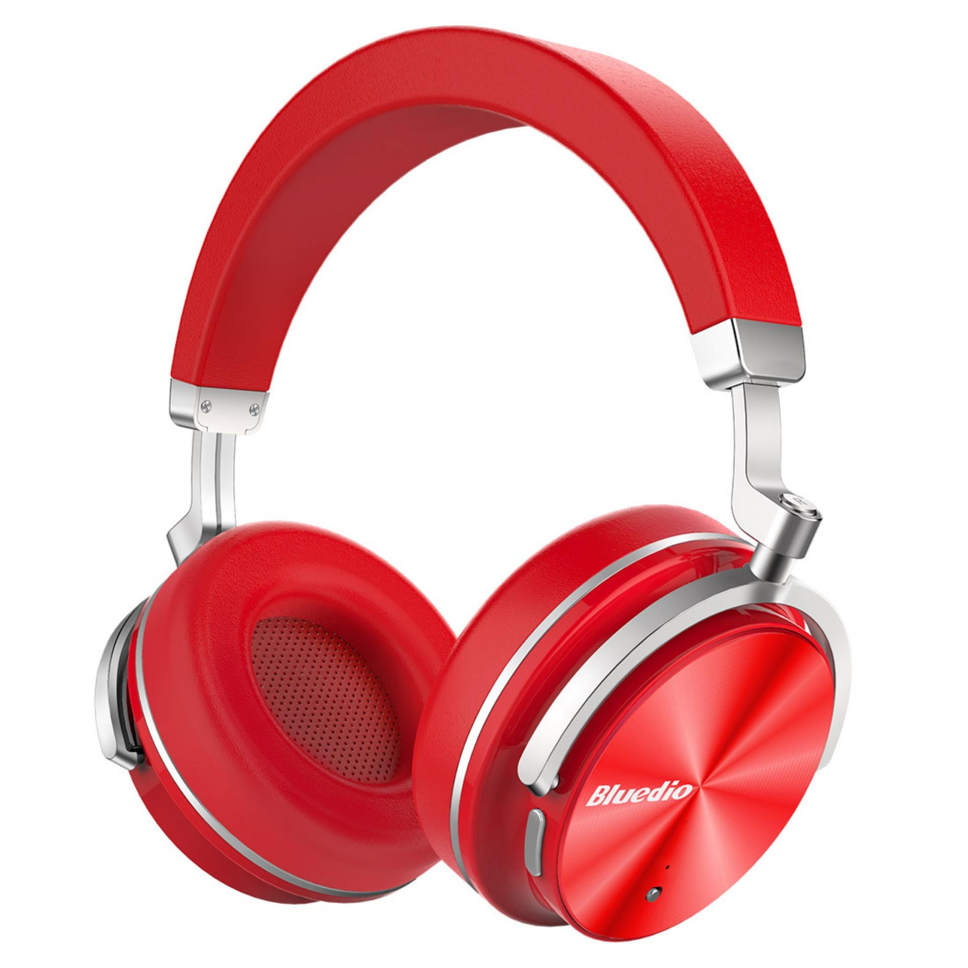 Spek Bluedio T4 Turbin Aktif Noise Cancelling Over Telinga Berputar Nirkabel Bluetooth Headphone Dengan Mic Merah Intl Bluedio