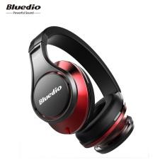 Headphone Bluetooth Nirkabel Bluedio UFO With MIC (hitam/merah)