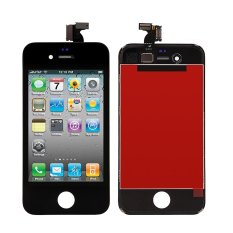 BLUESKY Black LCD Touch Screen Lens Display Digitizer Assembly untuk IPhone 4 4g GSM/CDMA-Intl