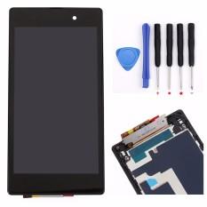 BLUESKY Tampilan LCD Monitor Panel Modul + Layar Sentuh Digitizer Perakitan Sensor Lensa Kaca dengan Bingkai FOR Sony Xperia Z1 L39H L39 C6902 C6903 C6906