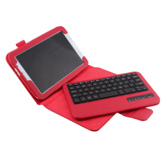 Bluesky ultra-tipis aluminium Wireless Bluetooth Keyboard Qwerty kulit Case Untuk Samsung Galaxy Note 8,0 N5100 N5110 N5113. Merah