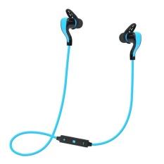 Bluetooth 4.1 Wireless Stereo Earphone Olahraga Headset Headphone (Biru)-Intl