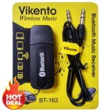 Jual Bluetooth Audio Music Receiver 3 5Mm Dongle Stereo Hitam Online