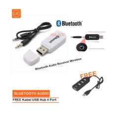 Diskon Produk Bluetooth Audio Receiver Wireless Music Putih Free Kabel Usb Hub 4 Port