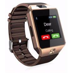 Bluetooth Digital Jam Tangan Pintar - Ponsel Jam Tangan Pintar Kamera GSM SIM Card - Jam Tangan untuk Android Smartphone - Emas