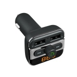 Model Bluetooth Handsfree Car Kit Fm Transmitter Dual Usb Charger Audio Mp3 Player Intl Terbaru