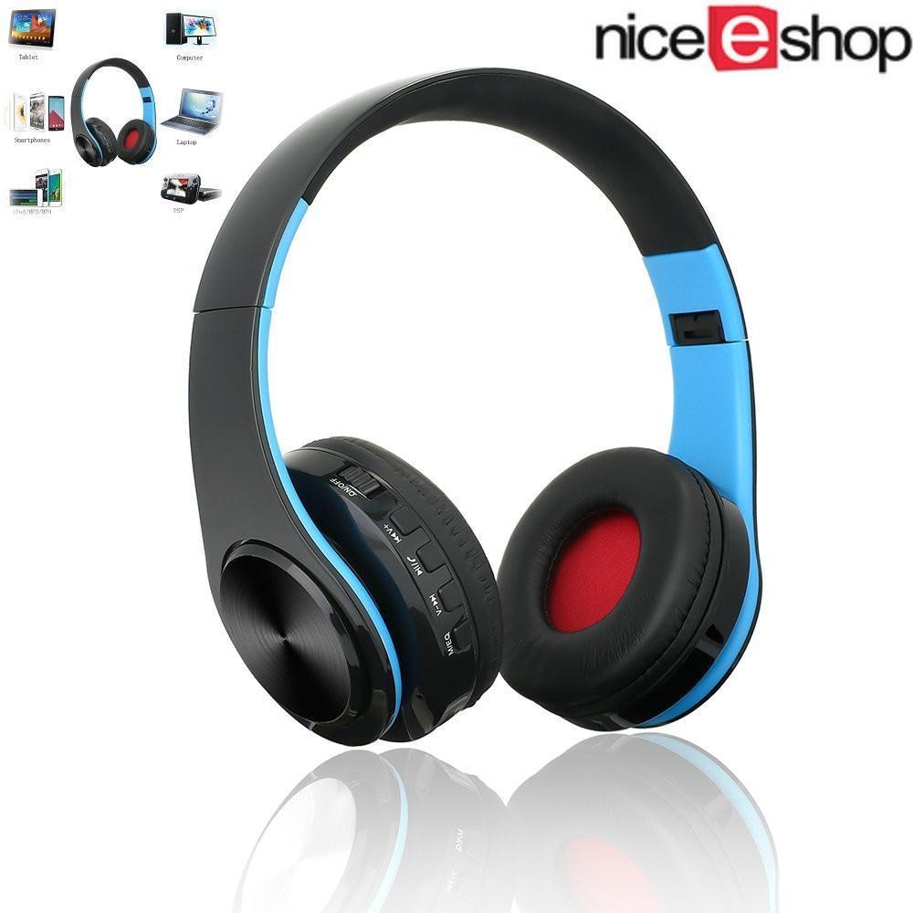 Bluetooth Headset, Over-ear Wireless Wired Stereo Headphone Mendukung TF Kartu Menghentikan Keributan, Mendamaikan Built-In Mikrofon Panggilan Telepon Handsfree Olahraga PC Gaming Earphone-Intl