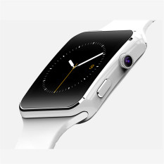 Diskon Besarbluetooth Smart Inteligente Perhiasan X6 Jam Pintar Olahraga Perhiasan Untuk Apple Iphone Android Telepon Dengan Radio Fm Kamera Dukungan Kartu Sim Putih